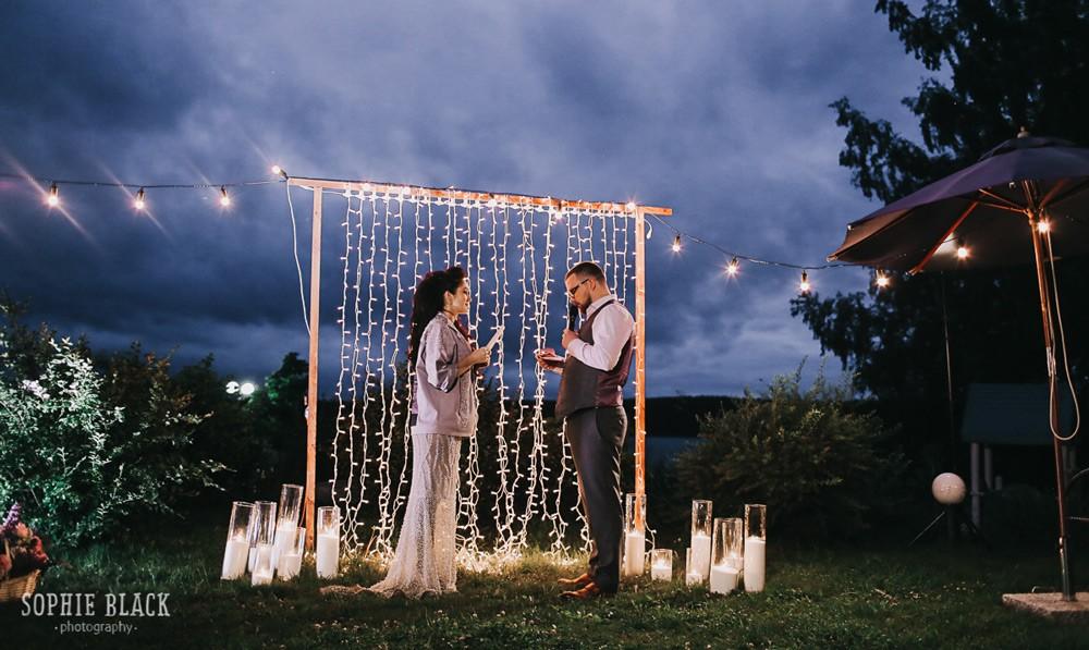 Свадьба «Глэм-рустик»