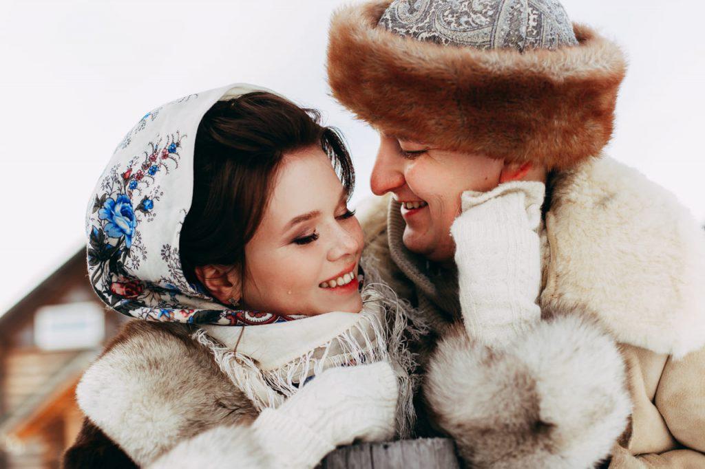 """Love Story в русском стиле """"Зимняя сказка"""""""